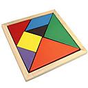 ieftine Puzzle Lemn-Tangram Puzzle Puzzle Lemn Jucării Educaționale Plin de Culoare De lemn Clasic & Fără Vârstă Fete Cadou