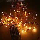 billige LED-stringlys-10 m Lysslynger 100 LED Dip Led RGB / Hvit Vanntett 220 V / IP44