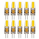 voordelige LED bi-pin lampen-10 stuks 1.5W 150-200lm G4 2-pins LED-lampen T 1 LED-kralen COB Waterbestendig Decoratief Warm wit Koel wit Natuurlijk wit Batterij 24V