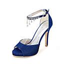 ieftine Pantofi de Mireasă-Dame Sandale Primăvară Vară Toamnă Luciu Nuntă Party & Seară Toc Stiletto Sclipici Strălucitor Negru Albastru Roșu Argintiu Auriu Altele