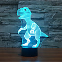 cheap Chandeliers-Dinosaur Touch Dimming 3D LED Night Light 7Colorful Decoration Atmosphere Lamp Novelty Lighting Light