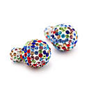 cheap Earrings-Women's Stud Earrings - Fashion Blue / White / Black / Rainbow For Wedding Party Daily