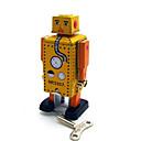 abordables Juguetes de Cuerda-Juguete Educativo Juguete de Cuerda Cuadrado Guerrero Robot Metal
