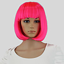 cheap Synthetic Capless Wigs-Synthetic Wig / Cosplay & Costume Wigs Straight Bob Haircut Synthetic Hair Pink Wig Women's Capless