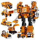 cheap Magnet Toys-5 in 1 Super Hero Toys Transformation Robots Action Cars Robot Plastic Kids Toys For Boys