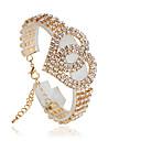 baratos Pulseiras-Mulheres Tênis Pulseiras - Fashion Pulseiras Prata / Dourado Para Casamento