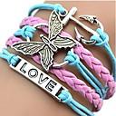 cheap Temporary Tattoos-Women's Crossover Charm Bracelet Wrap Bracelet Leather Bracelet - Animal Bohemian, Fashion Bracelet Pink For Daily Casual