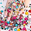 cheap Rhinestone & Decorations-2000pcs nail flashing flat flat color diamond drill diy nail polish wedding accessories