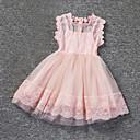 povoljno Haljine za djevojčice-Djevojka je Pamuk Poliester Jednobojni Izlasci Ljeto Bez rukávů Haljina Čipka Obala Pink