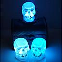 billige Halloweenprodukter-selger halloween dekorasjon forsyninger skallen nattlys tilfeldig farge