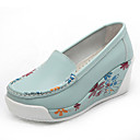 cheap Women's Athletic Shoes-Women's Shoes Leather Spring / Fall Loafers & Slip-Ons Platform Flower Yellow / Blue / Navy