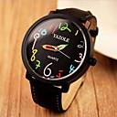 preiswerte Kleideruhr-YAZOLE Damen Armbanduhr Armbanduhren für den Alltag Leder Band Freizeit / Modisch / Elegant Schwarz / Braun / Ein Jahr / SSUO 377