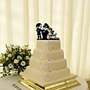 billige Kagedekorationer-Kagedekorationer Klassisk Tema Klassisk Par Akryl Bryllup med Blomst 1 Gaveæske