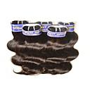 billige Hairextension med naturlig farge-Brasiliansk hår Krop Bølge Ekte hår Menneskehår Vevet Hårvever med menneskehår Hairextensions med menneskehår