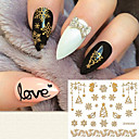 cheap Nail Stickers-1 pcs 3D Nail Stickers nail art Manicure Pedicure Fashion Daily