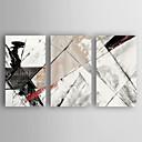 Χαμηλού Κόστους Αφηρημένοι Πίνακες-Hang-ζωγραφισμένα ελαιογραφία Ζωγραφισμένα στο χέρι - Αφηρημένο Μοντέρνα Καμβάς