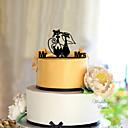 preiswerte Hochzeitsgeschenke-Tortenfiguren & Dekoration Klassisch Klassisches Paar Acryl Hochzeit mit Blume 1 pcs Geschenkbox