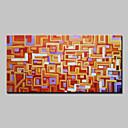 baratos Pinturas Abstratas-Pintados à mão Abstrato Horizontal,Moderno 1 Painel Tela Pintura a Óleo For Decoração para casa