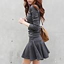 זול נעלי עקב לנשים-מיני אחיד - שמלה סקייטר\מחליקה על הקרח כותנה סגנון רחוב בגדי ריקוד נשים