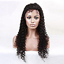 cheap Nail Glitter-Human Hair Full Lace Wig Curly 130% Density 100% Hand Tied African American Wig Natural Hairline Medium Long Women's Human Hair Lace Wig