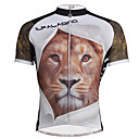 cheap Cycling Jerseys-ILPALADINO Men's Short Sleeve Cycling Jersey Animal Lion Bike Jersey Top, Breathable Quick Dry Ultraviolet Resistant 100% Polyester / Stretchy / Reflective Strips / Sweat-wicking