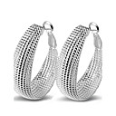 cheap Earrings-Women's Hoop Earrings - Sterling Silver Statement, Sexy, Fashion Silver For Wedding Party Daily