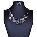 billiga Huvudsmycken till fest-Dam Smyckeset damer, Europeisk, Mode, Euramerikansk Omfatta Halsband / örhängen Purpur / Grön / Blå Till Bröllop Party Dagligen Casual / Örhängen / Dekorativa Halsband