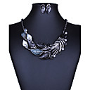baratos Bolsas de Ombro-Mulheres Conjunto de jóias - Europeu, Fashion, Euramerican Incluir Colar / Brincos Roxo / Verde / Azul Para Casamento Festa Diário / Colares