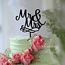 olcso Torta díszek-Tortadísz Klasszikus téma Klasszikus pár Akril Esküvő val vel Virág 1pcs Ajándékdoboz