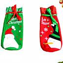 billige Julepynt-1 par christmas vin sett flaske dekning poser dekorasjon hjem fest klut santa jul xmas navidad