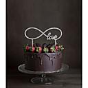 hesapli Pasta Tepesi Süsleri-Pasta Üstü Figürler Klasik Tema Monogram Arkilik Düğün ile Çiçekli 1 Hediye Kutusu