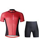 abordables Ropa para Perro-ILPALADINO Hombre Manga Corta Maillot de Ciclismo con Shorts - Negro Bicicleta Sets de Prendas, Almohadilla 3D, Secado rápido, Resistente