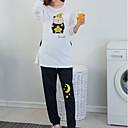 billige Clutch- og aftenvesker-Dame Rund hals Dress Pyjamas - Ensfarget, Trykt mønster