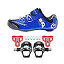 cheap Cycling Shoes-SIDEBIKE Adults' Cycling Shoes With Pedals & Cleats / Road Bike Shoes Carbon Fiber Cushioning Cycling Blue Men's