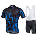 cheap Cycling Jersey & Shorts / Pants Sets-Fastcute Men's / Women's Short Sleeve Cycling Jersey with Bib Shorts - Black Bike Bib Shorts / Jersey / Bib Tights, 3D Pad, Quick Dry, Breathable, Sweat-wicking Polyester, Lycra Gradient / Stretchy