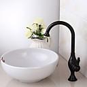 preiswerte Einbauleuchten-Waschbecken Wasserhahn - Vorspülung / Wasserfall / Verbreitete Antikes Kupfer Mittellage Einhand Ein LochBath Taps
