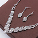 cheap Earrings-Women's Crystal Jewelry Set - Fashion Include Necklace / Earrings Silver For Wedding Party