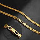 cheap Men's Necklaces-Men's Herringbone Chain Necklace - 18K Gold Plated Personalized, Classic, Fashion Golden 50 cm Necklace 1 pc For Party, Daily, Casual