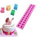 halpa Leivontavälineet-3d englantilaiset kirjaimet silikonimuotti vauvan diy rakennuspalikkaan fondant kakku suklaa