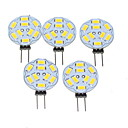 cheap LED Bi-pin Lights-5pcs 1.5W 200-220lm G4 LED Spotlight MR11 9 LED Beads SMD 5730 Dimmable Warm White 12V / 5 pcs / RoHS