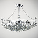 billige Taklamper-QINGMING® Inverted Anheng Lys Omgivelseslys galvanisert Metall Glass Krystall 110-120V / 220-240V Pære ikke Inkludert / E12 / E14