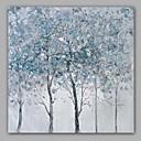 ieftine Sus Artist-Hang-pictate pictură în ulei Pictat manual - Abstract Floral / Botanic Clasic Modern pânză