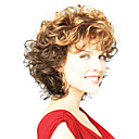 cheap Human Hair Capless Wigs-Synthetic Wig Curly Synthetic Hair Ombre Hair Brown Wig Women's Capless Brown