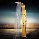 abordables Pelucas de Cabello Natural-Grifo de ducha - Moderno Ti-PVD Sistema ducha Válvula Cerámica