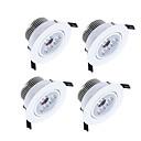 baratos Luzes LED de Encaixe-450-550lm 3 LEDs Regulável Downlight de LED Branco Quente Branco Frio Branco Natural