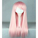 cheap Synthetic Capless Wigs-Synthetic Wig / Cosplay & Costume Wigs Straight Synthetic Hair Pink Wig Women's Very Long Capless