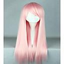abordables Pelucas Sintéticas con Agarre-Pelucas sintéticas / Pelucas de Broma Recto Rosa Pelo sintético Rosa Peluca Mujer Muy largo Sin Tapa Rosa