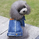 cheap Dog Clothes-Dog Denim Jacket/Jeans Jacket Dog Clothes Jeans Blue Denim Costume For Pets Men's Women's Cute Cowboy Fashion