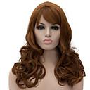 billige Syntetiske parykker uten hette-Syntetiske parykker Krøllet / Dyp Bølge Asymmetrisk frisyre Syntetisk hår Naturlig hårlinje Brun Parykk Dame Lang Lokkløs Medium Rødbrun