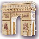 baratos Quebra-Cabeças 3D-Quebra-Cabeças de Madeira Construções Famosas Arco do Triunfo Nível Profissional De madeira 1pcs Crianças Para Meninos Dom